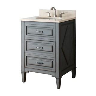 Avanity Kelly Grey/ Blue 24-inch Vanity Combo