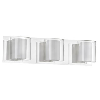 Dainolite 3-light Double Glass Vanity Fixture