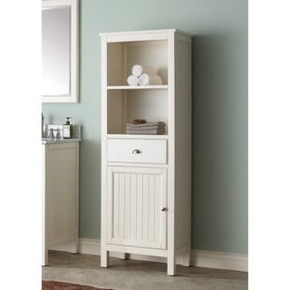 Avanity Hamilton French White 22 inch Linen Tower. White  Linen Tower Bathroom Furniture Store   Shop The Best Deals