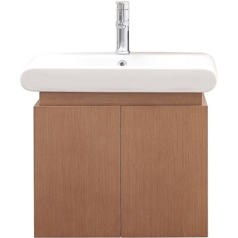 Avanity Elle Pear Wood 24-inch Vanity with Vitreous China Top