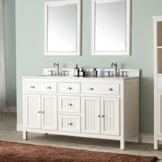 "Avanity Hamilton French White 60-inch Vanity Combo - 60"" (Option: Beige)