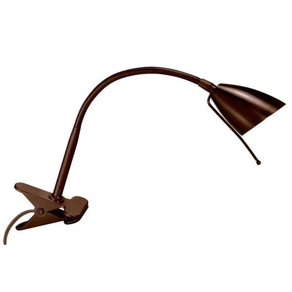 Oil Brushed Bronze Single-light Gooseneck Clip-on Lamp