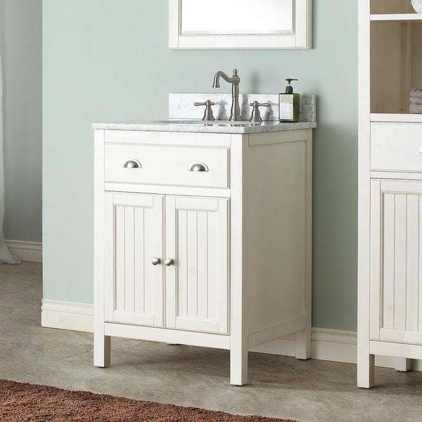 Avanity Hamilton French White 24-inch Vanity Combo with Top and Sink
