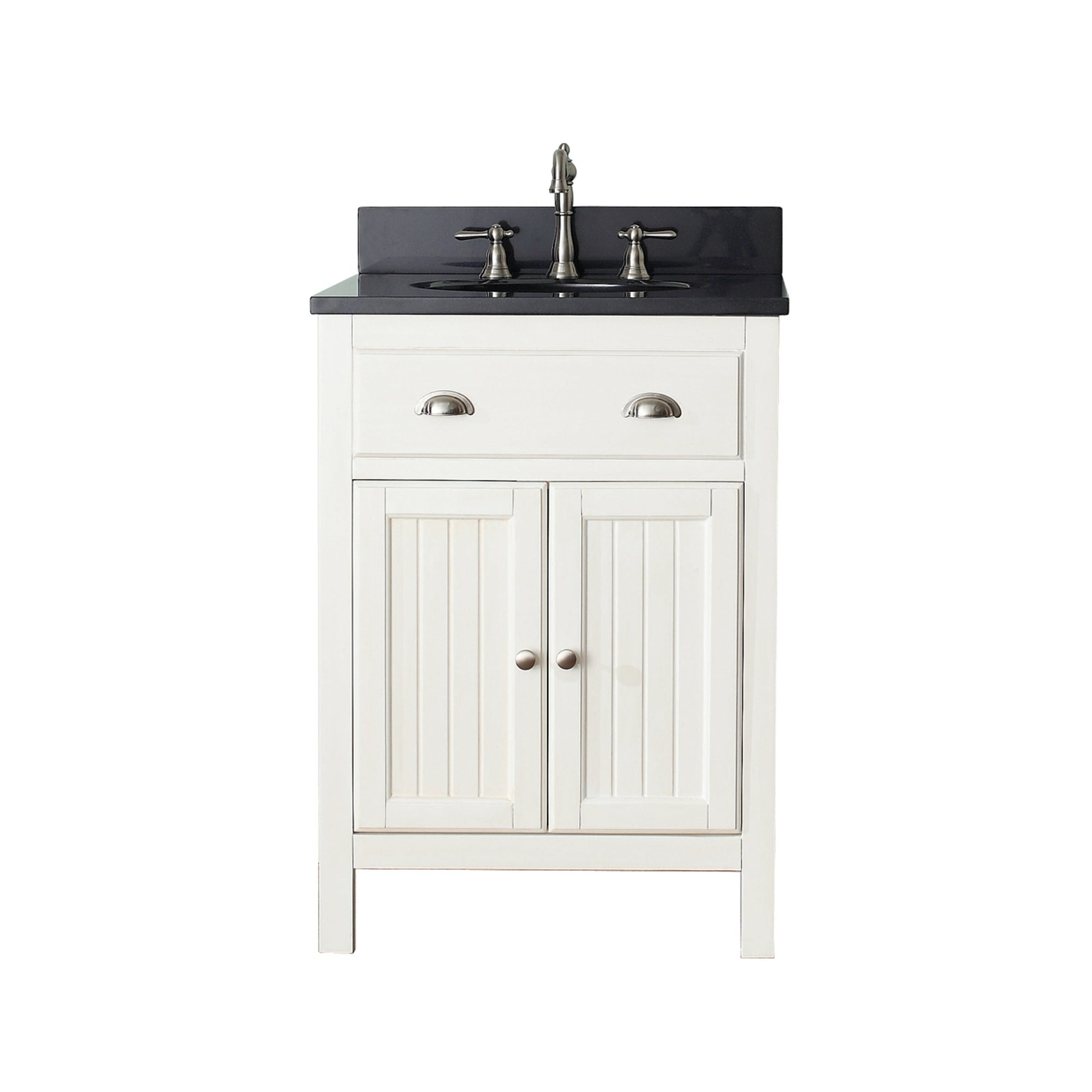 Avanity Hamilton French White 24 Inch Vanity Combo With Top And Sink
