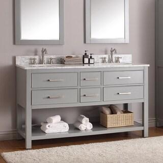 Unique 60 Double Sink Bathroom Vanities Avanity Brooks Chilled Grey Vanity Combo N And Design Decorating