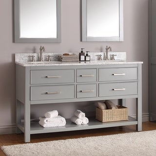 Avanity Brooks Chilled Grey 60-inch Vanity Combo (3 options available)