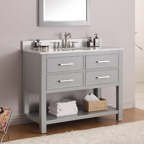 Avanity Brooks 43-inch Chilled Grey Vanity Combo with Top and Sink
