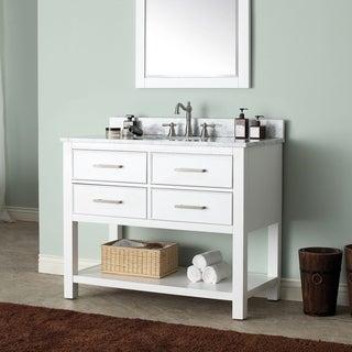 Avanity Brooks White 42-inch Vanity Combo