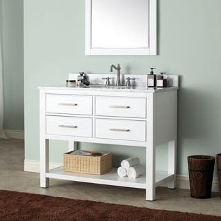 Avanity Brooks White 42-inch Vanity Combo (Option: Tan)|https://ak1.ostkcdn.com/images/products/9378876/P16569251.jpg?impolicy=medium