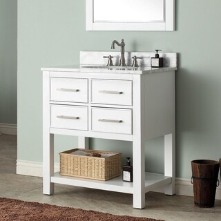 Avanity Brooks 31-inch White Vanity Combo with Top and Sink