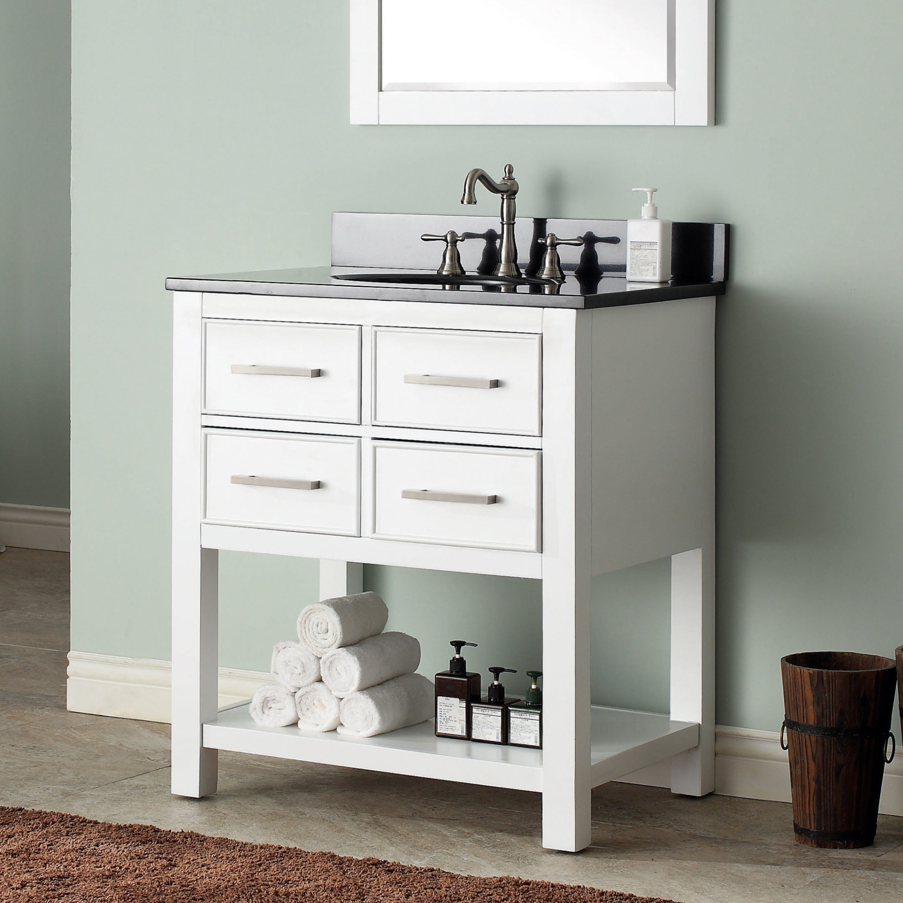 Avanity Brooks 31 Inch White Vanity Combo With Top And Sink Overstock 9378946