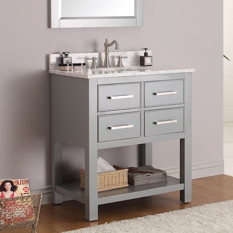 Avanity Brooks 31-inch Chilled Gray Vanity Combo with Top and Sink