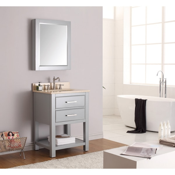 24 Inch Bathroom Vanity Combo avanity brooks chilled grey 24-inch vanity combo - free shipping
