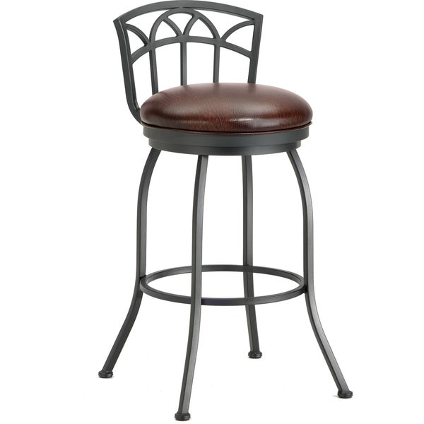 Counter Stools Overstock: Shop Fiesole Low Back Swivel Counter Stool