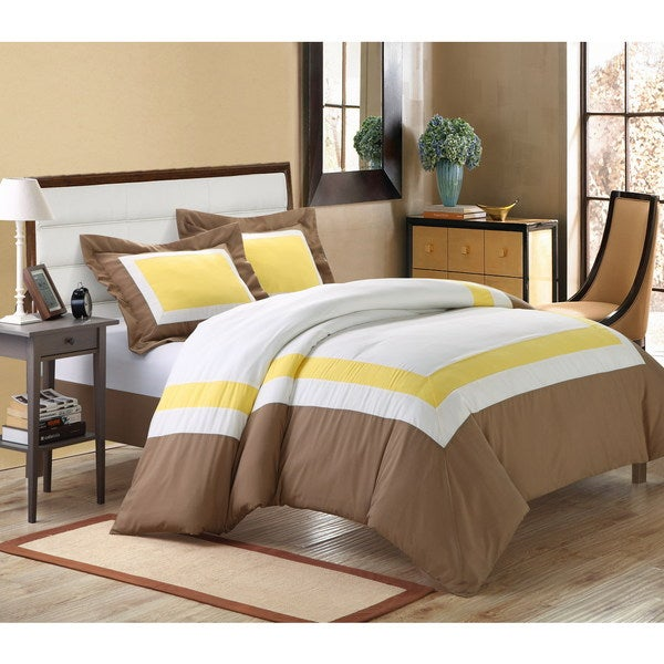Chic Home Borders 3-piece Duvet Cover Set