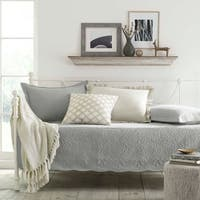 Stone Cottage Trellis Grey 5-piece Quilted Daybed Cover Set