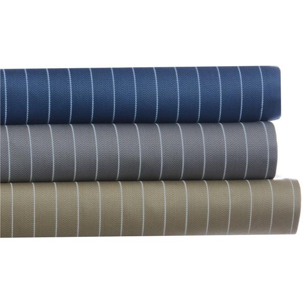 Eddie Bauer Grey Pinstripe Cotton Sateen 4-piece Sheet Set