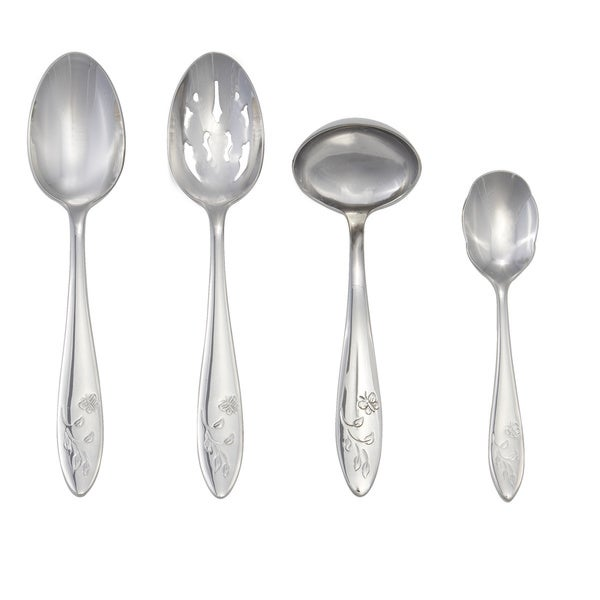 Shop Lenox Butterfly Meadow 4 Piece Stainless Flatware