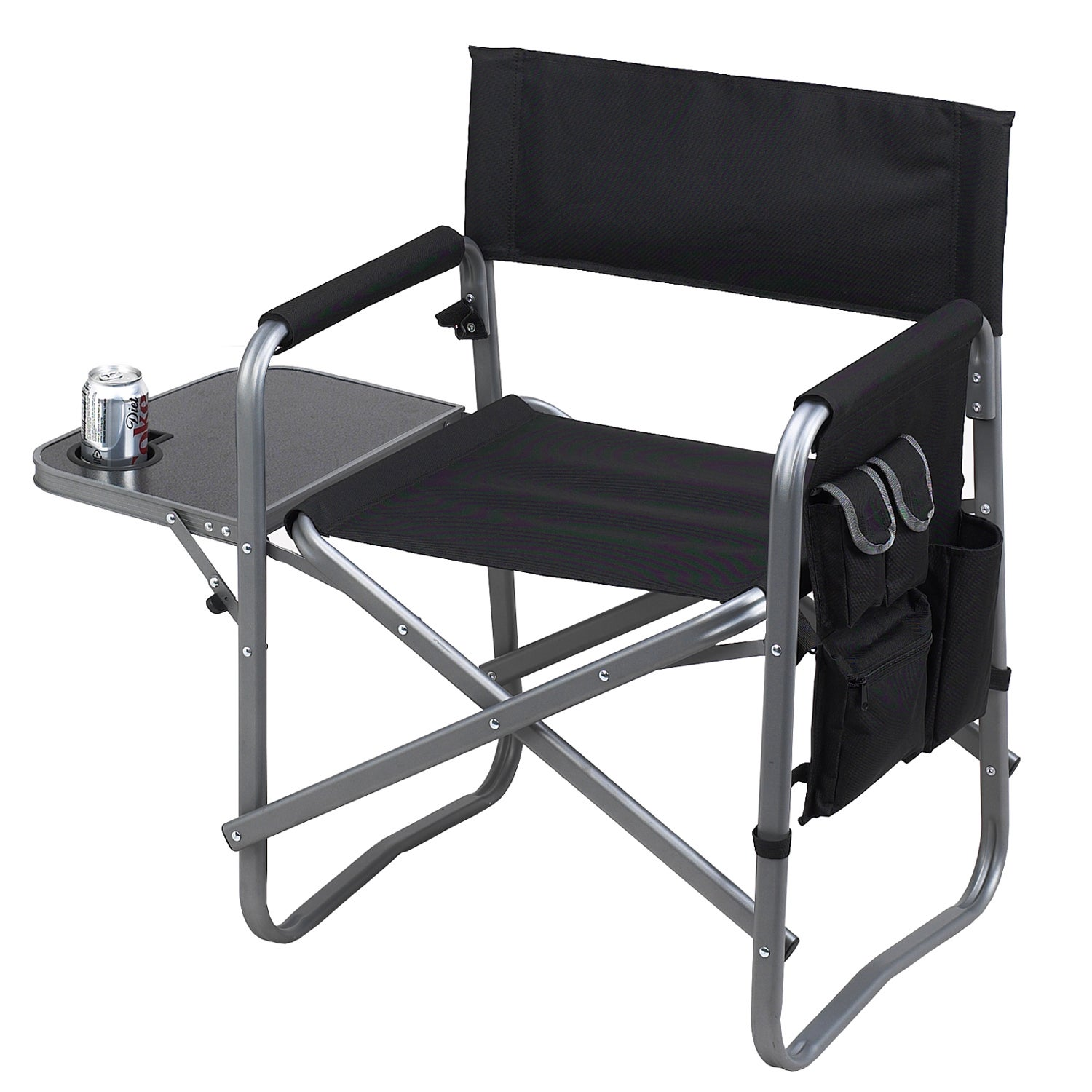 Picnic at Ascot Director's Chair with Side Table (Black)