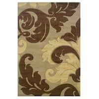 Linon Corfu Collection Tan/ Brown Area Rug (1'10 x 2'10)