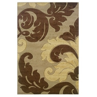 Linon Corfu Collection Tan/ Brown Area Rug (8' x 10'3)