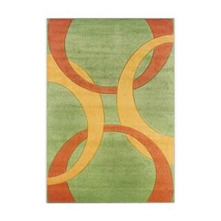 Linon Corfu Collection Lime/ Goldenrod Area Rug (8' x 10'3)