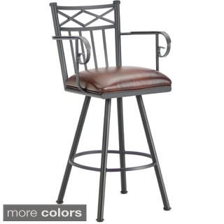 Alexander Steel Swivel Bar Stool with Arms