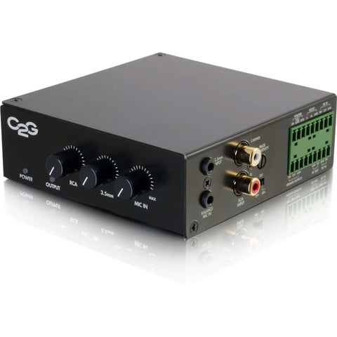 C2G 25/70V 50W Audio Amplifier - Plenum Rated