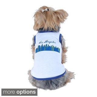 Anima Los Angeles Dog clothes tank tops for pet puppy shirt round Neck LA