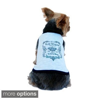 Anima Las Vegas Lovely dog printing T-Shirt for dog pet clothes glitter top puppy