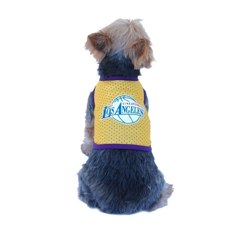 ANIMA Pet Puppy Dog LA Logo Basketball Jersey Clothes App...