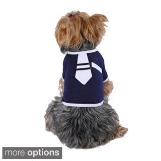 Anima Pet Dog Puppy Clothes Cute Necktie Tie Ultra Soft Cotton Tee T-Shirt