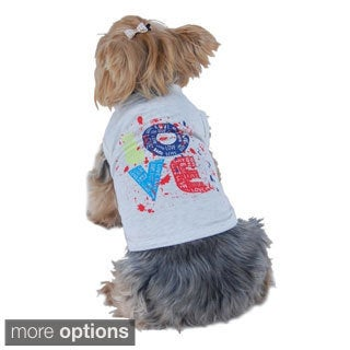 Anima New Hot Summer Pet Puppy Dog Love Logo Clothes Vest T Shirt Apparel