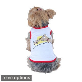 Anima Clothes for pets Daddy's Best Buddy dog shirt T-Shirt tank top puppy