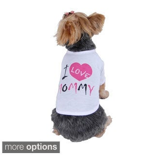 Anima Pet Dog Puppy Apparel Clothes Comfy I Love Mommy Cotton Tank Top Tee T Shirt