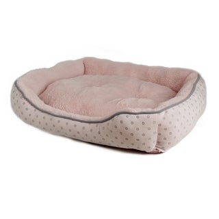 Insten Pink/ Gray Pet Dog Puppy Washable Dryable Soft Suede Plush Bed House Cushion