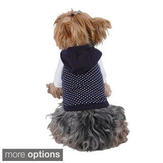Insten Pet Dog Puppy Apparel Stylish Polka Dots Hoodies Sweatshirt Jacket