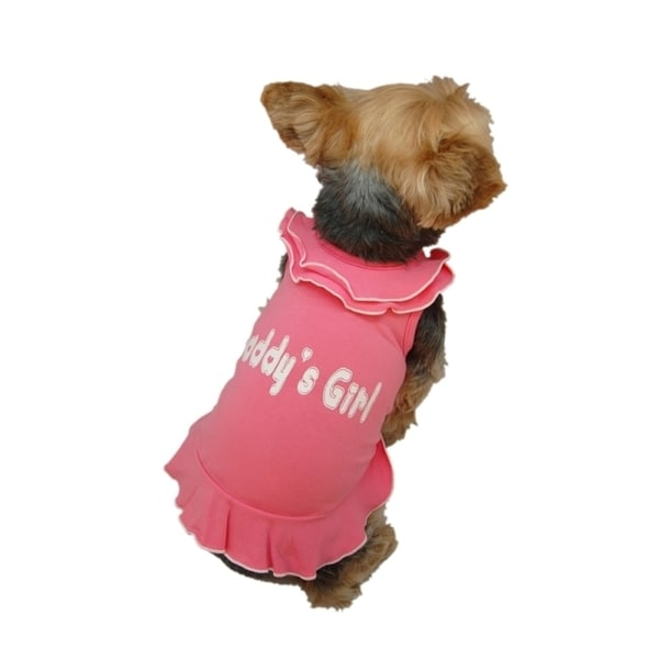 06f520cd0 Shop Anima Pet Dog Puppy Clothes Daddy's Girl Ruffle Old Style Layer Collar  Dress Skirt - multi - Free Shipping On Orders Over $45 - Overstock - 9380427