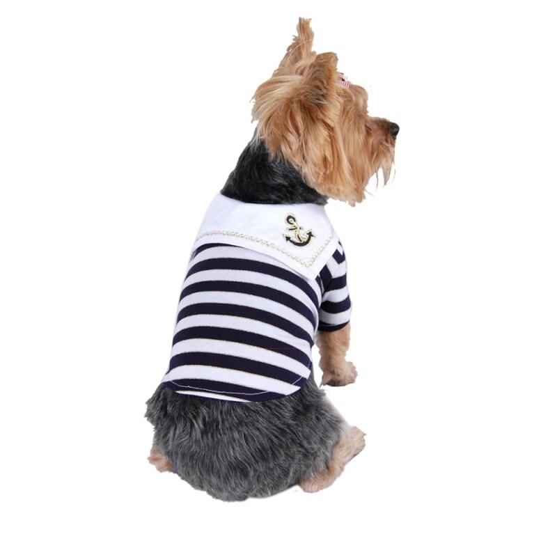 ANIMA Pet Dog Puppy Clothes Apparel Stylish Sailor Navy (...