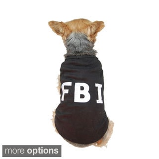 Anima Cute Black 'FBI' Costume Dog T-shirt