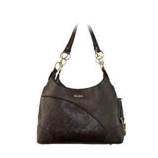 Insten Black Designer Faux Leather Pet Dog puppy Cat Carrier Tote Bag Handbag