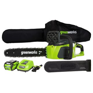 GreenWorks Li-Ion 16-inch Cordless Chainsaw with Battery and Charger