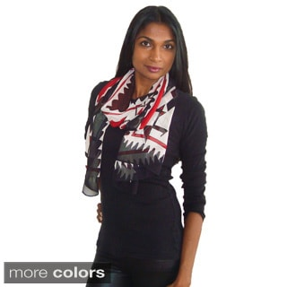 Printed Tribal Design Fashion Scarf