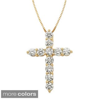 Sofia 14k Gold 1ct IGL Certified Diamond Cross Necklace|https://ak1.ostkcdn.com/images/products/9382906/P16572758.jpg?impolicy=medium
