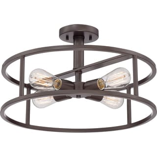 Quoizel New Harbor 4-light Western Bronze Extra Large Semi Flush Mount