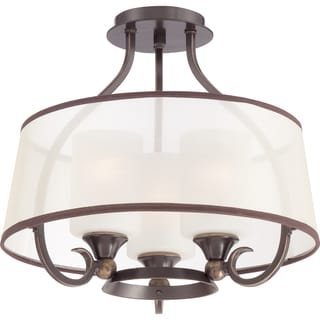 Palmer 3-light Palladian Bronze Large Semi Flush Mount
