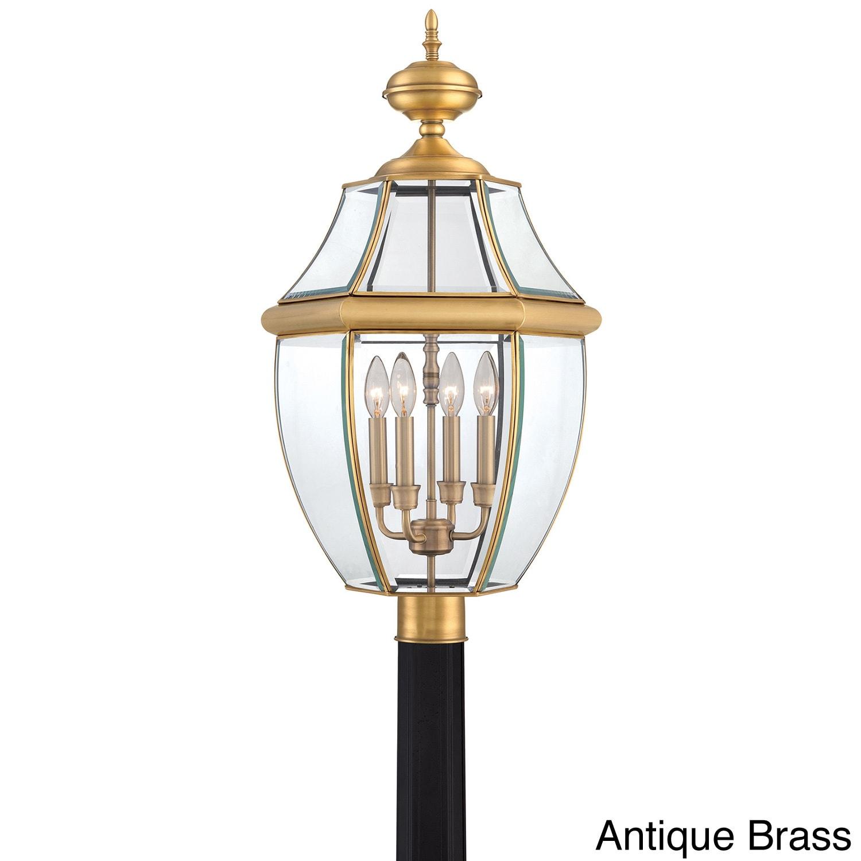 shop quoizel newbury 4 light extra large post lantern free