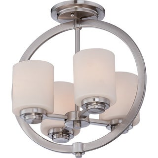 Celestial 4-light Brushed Nickel Medium Semi Flush Mount