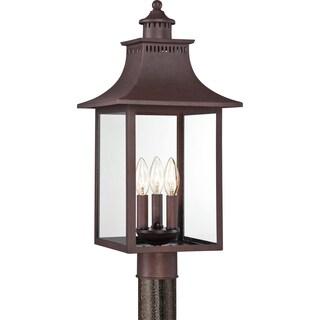 Quoizel Chancellor 3-light Copper Bronze Large Post Lantern