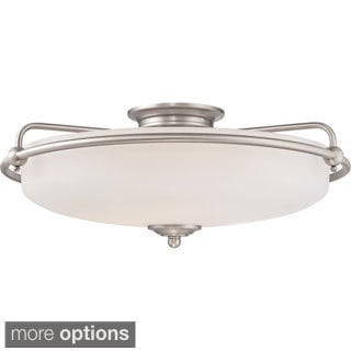 Quoizel Griffin 4-light Antique Nickel Extra Large Floating Flush Mount